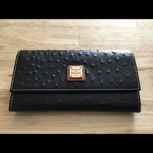 NWT Dooney & Bourke Ostrich Framed Wallet